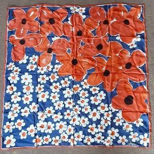 1970's Vera Neumann retro floral scarf